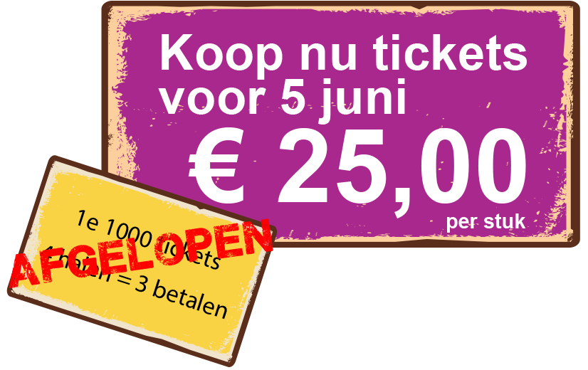 Early Bird Actie Is Afgelopen
